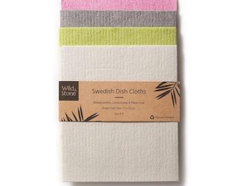 Compostable Swedish Dish Cloths - Set of 4