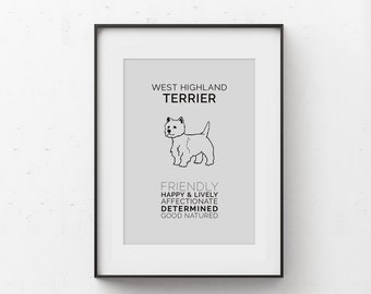 Westie or West Highland Terrier Art Digital Download
