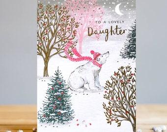 Polar Bear Daughter Christmas Card