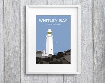 Whitley Bay (Day Time Version) Art Print