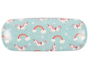 Rainbow and Unicorn Glasses Case