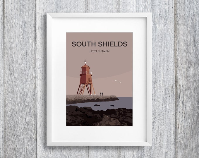 Featured listing image: South Shields Art Print