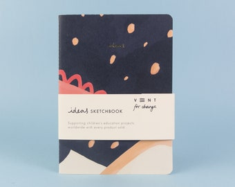Deep Blue Idea's Recycled Soft Cover sketchbook