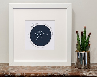 Aquarius Zodiac Constellation Print