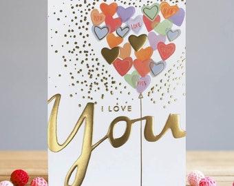 I Love You Valentine's Card