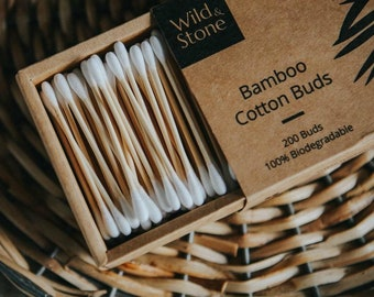 Bamboo Cotton Buds - Biodegradable & Vegan - 200 Pack