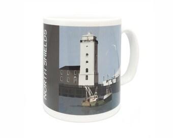 North Shields Fish Quay Illustrated Mug