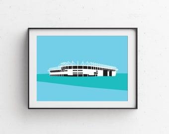 Riverside Stadium Art Print