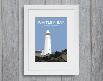 Whitley Bay (Day) Framed A4 size Art Print