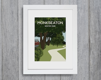 Monkseaton Framed A4 size Art Print