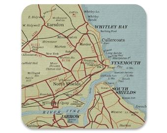 North East Coast Map Coaster