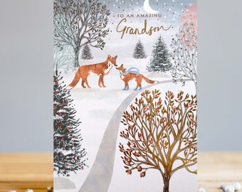 Amazing Grandson Christmas Card