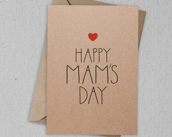 Happy Mam's Day Mother's Day Card