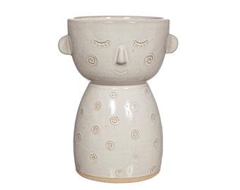 Speckled Face Vase