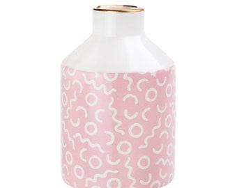 Pastel Pink Pattern Vase