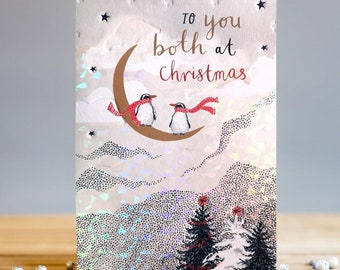 To You Both Penguins Christmas Card