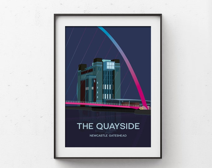 Featured listing image: The Quayside Newcastle Gateshead Art Print
