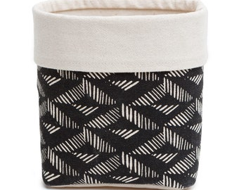 Black Aztec Fabric Basket