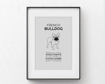 French Bulldog Art Digital Download