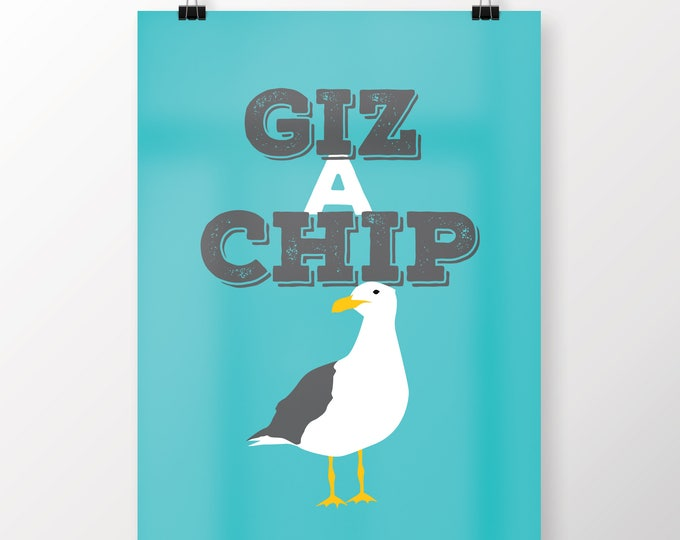 Featured listing image: Giz a Chip Art Print