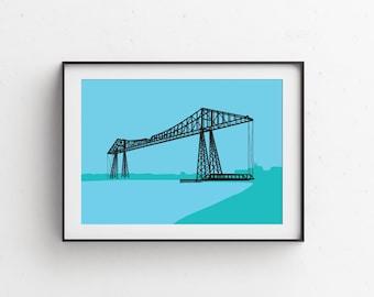 Tees Transporter Bridge Art Print