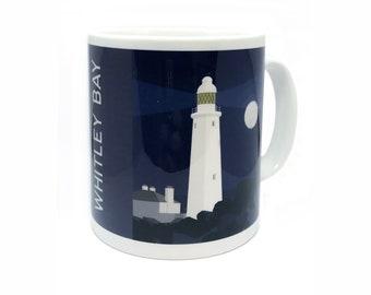 Whitley Bay Illustrated Mug