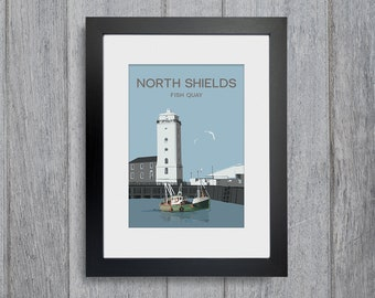 North Shields Framed A4 size Art Print