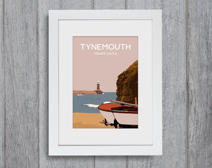 Featured listing image: Tynemouth Framed A4 size Art Print