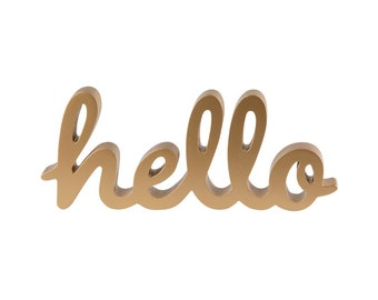 Gold Hello Standing Decoration