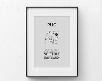 Pug Art Digital Download