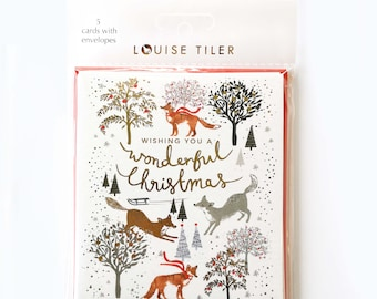 Wonderful Foxes Christmas Cards Pack of 5