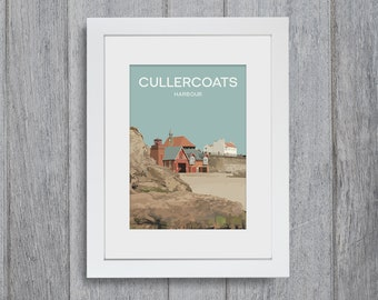 Cullercoats Framed A4 size Art Print