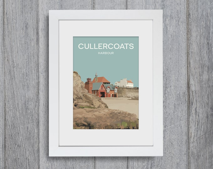 Featured listing image: Cullercoats Framed A4 size Art Print