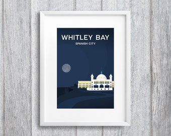 Whitley Bay Spanish City Art Print