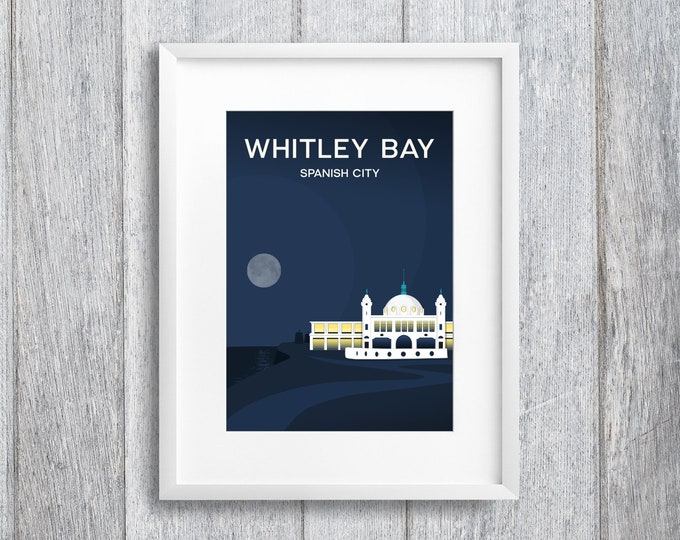 Featured listing image: Whitley Bay Spanish City Art Print