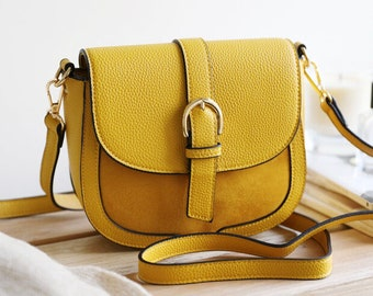 Mustard Vegan Leather Handbag