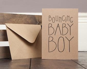 New Baby Boy Greetings Card