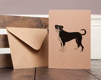 Boxer Dog Greetings Card