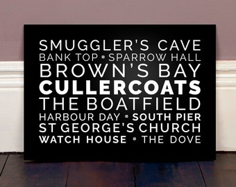 Typography Print of Cullercoats