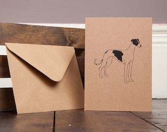 Greyhound Greetings Card