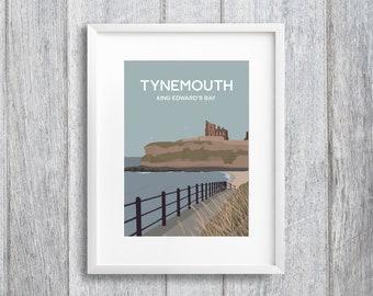 King Edward's Bay, Tynemouth Art Print