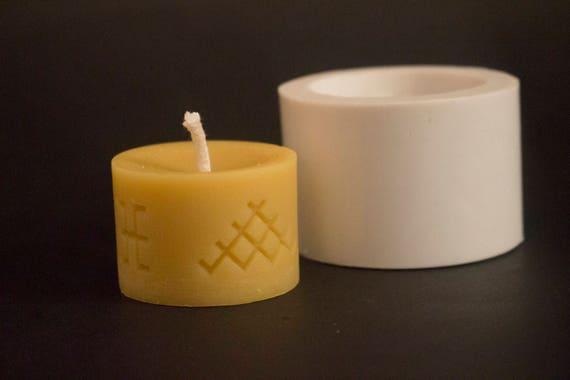 Handmade silicone candle mold TREE MOTIVE