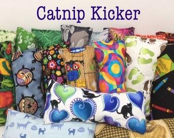 "8"" catnip kicker toy - organic catnip toy - cat gift - small kicker toy"