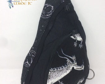 Custom Made Artistic Sling Bag - Dragons!