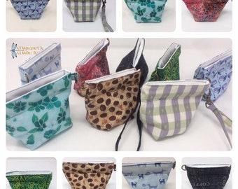 "4.5"" Squeeze Coin Pouch, snap open coin purse, pinch open dog treat bag, small reusable snack bag"