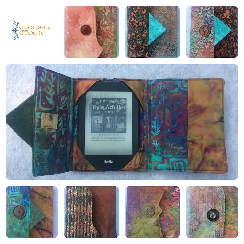 Kindle Cover Padded Kindle Case Nook Cover eReader Cover image 0