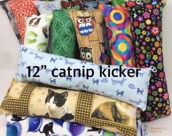 "12"" catnip kicker toy - organic catnip toy - cat gift - medium kicker toy"