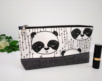 Panda Cosmetic bag, make-up pouch, travel bag, toiletry bag, purse