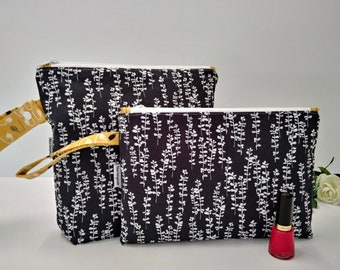 Medium size wet bag, zippered bag, travel pouch, nappy bag, cosmetic bag