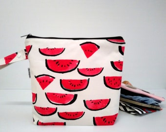 Large wet bag, beach bag, nappy bag, travel bag, waterproof PUL bag - Watermelon